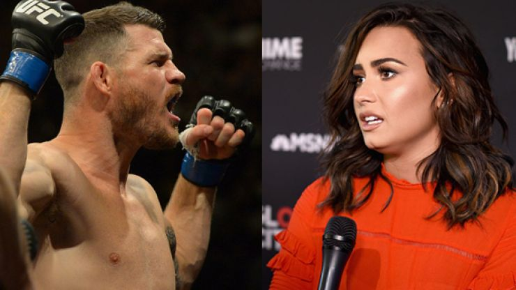 WATCH: Michael Bisping turns full heel, takes aim at Luke Rockhold and Demi Lovato