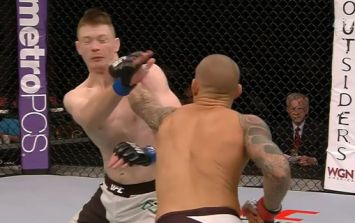 Pic: Dustin Poirier's heavy strikes certainly left their mark on Joseph Duffy's face