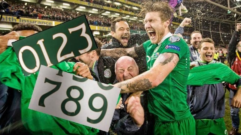 PICS: Umbro unveil the font that will be on Ireland's home and away jerseys at Euro 2016