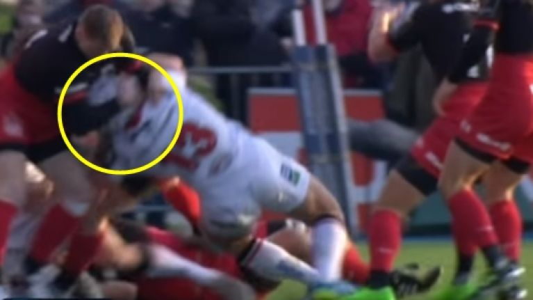 WATCH: Chris Ashton to miss Six Nations after this ghastly tackle on Luke Marshall