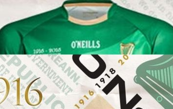 O'Neill's have released a 1916 commemoration GAA jersey and it is tasty