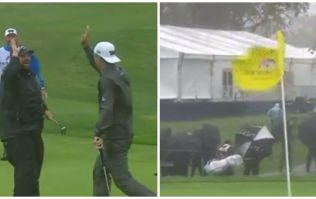 VIDEO: Is this the most wind-assisted golf putt ever at the storm-swept Farmers Insurance Open?