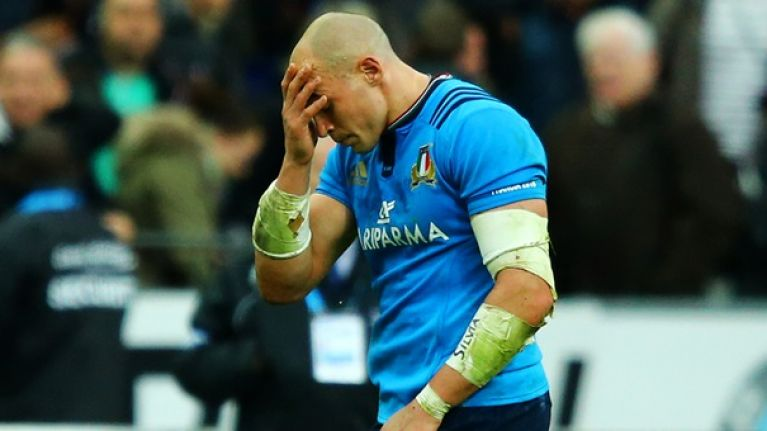 The sight of Sergio Parisse's drop kick divided Twitter into
