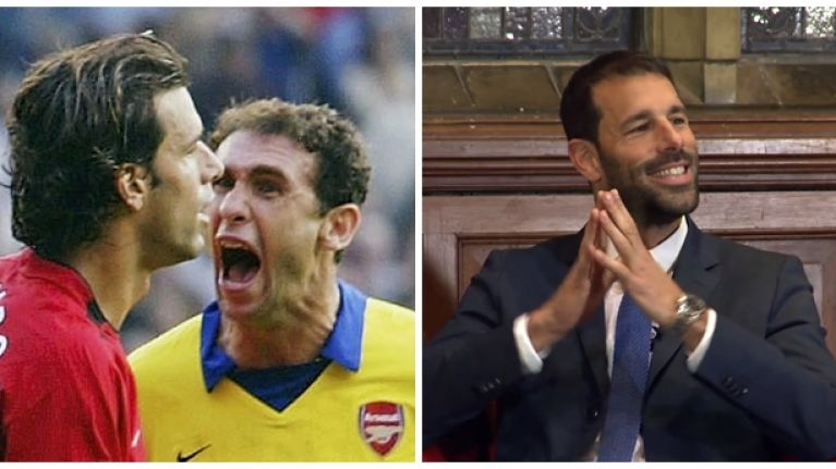 Watch: Ruud van Nistelrooy brilliantly takes the piss out of old enemy Martin Keown