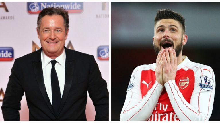 Piers Morgan: If Giroud scores against Barcelona, I will