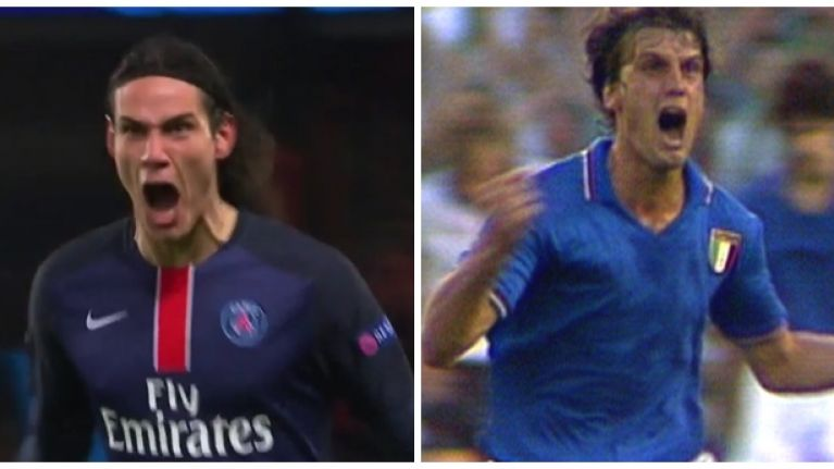 Watch: Edinson Cavani with one of the most passionate goal celebrations you'll see this season