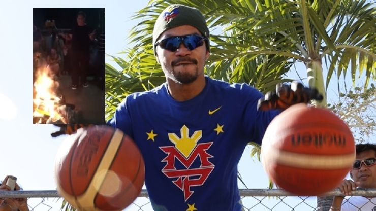 "Manny Pacquiao says ""pray for Nike"" as fans go on burning spree"