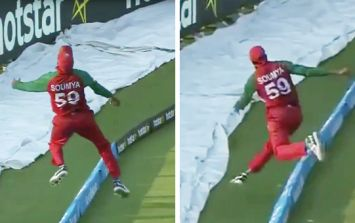 VIDEO: Bangladeshi fielder pulls off genius catch against Pakistan in T20 World Cup