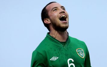 Former Ireland U21 Samir Carruthers has literally p****d two weeks wages away
