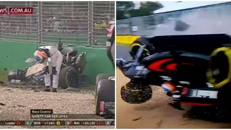 VIDEO: Fernando Alonso somehow walks away from terrifying crash at Australian Grand Prix