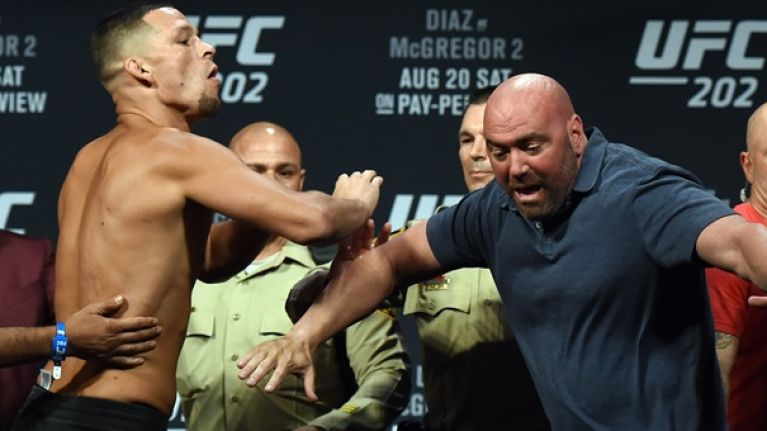 In spite of Nate Diaz's claims, Dana White insists the Stockton fighter weighed 190lbs at UFC 202