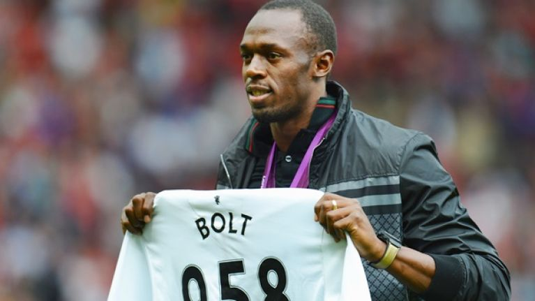 Usain Bolt names the former striker who made him fall in love with Manchester United