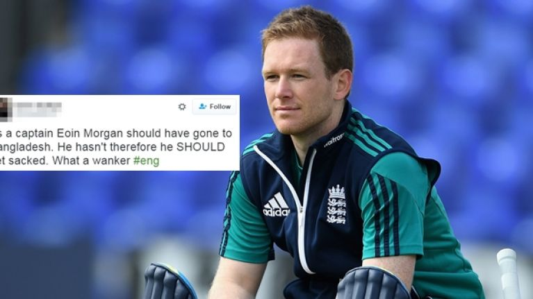 English vendetta against Eoin Morgan continues after Dubliner's terrorism stance
