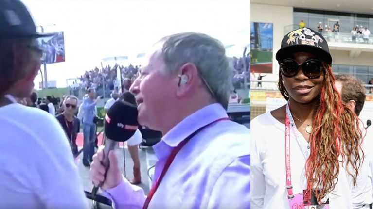 Watch 'hugely ignorant' Venus Williams refuse grid walk interview with Martin Brundle