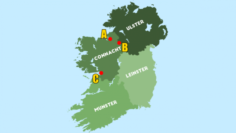 Map Of Ireland Leinster.Can You Place The Biggest Gaa Grounds On A Map Of Ireland