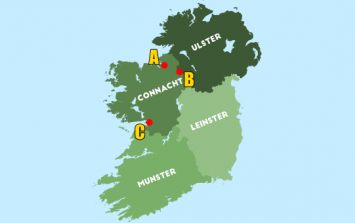 Can you place the biggest GAA grounds on a map of Ireland?