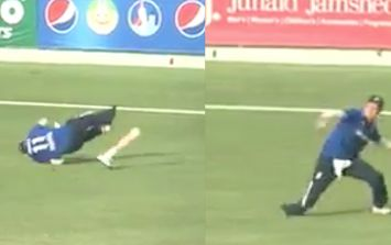 WATCH: Losing his prosthetic leg didn't stop cricketer from doing his job