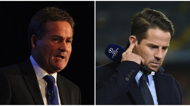 Richard Keys takes the piss out of Jamie Redknapp after Wilfried Bony's Stoke double