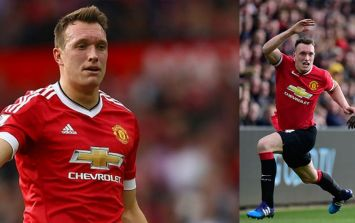 Manchester United fans greet Phil Jones' return as only they can
