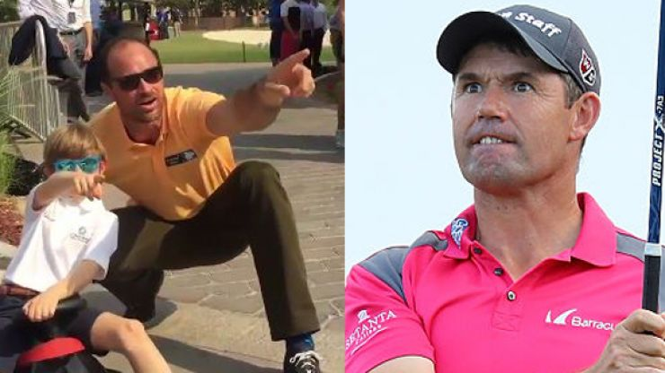 WATCH: Can you spot Padraig Harrington in arguably the greatest mannequin challenge so far?