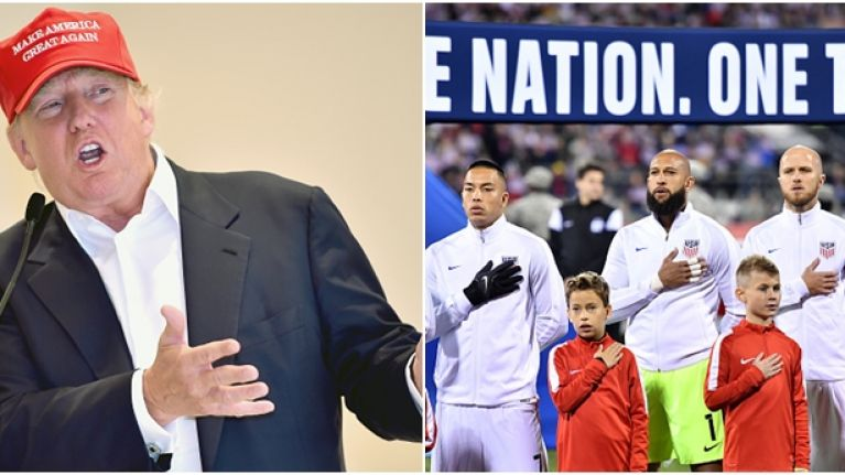USA and Mexico offered the perfect response to Donald Trump with their team photo last night
