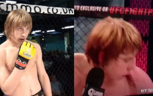 WATCH: Paddy Pimblett pukes in the cage following very controversial decision