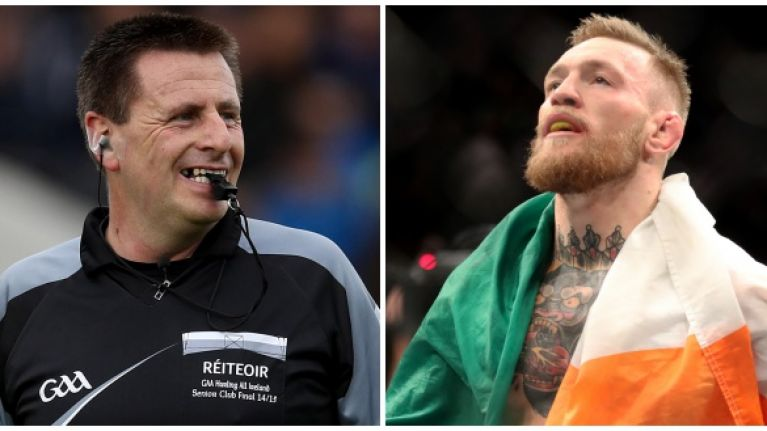 Hurling referee may regret using GAA analogy to illustrate Conor McGregor's dominance