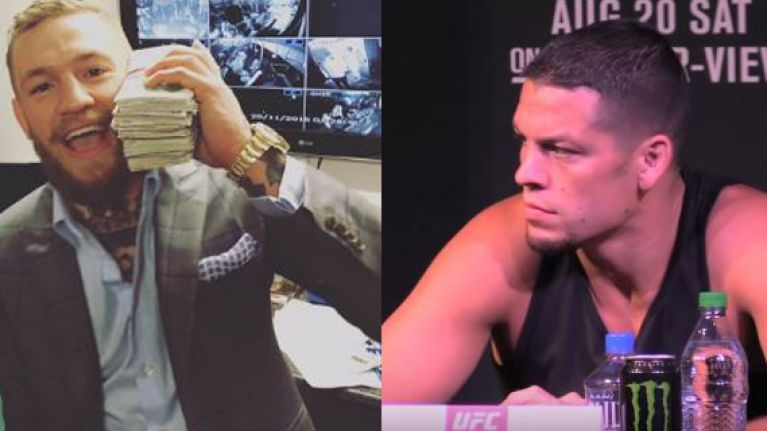 Nate Diaz couldn't stop himself from responding to Conor McGregor's latest taunt to the entire roster