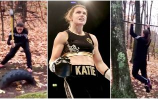 It's hardly surprising Katie Taylor won her pro debut if this was how she trained
