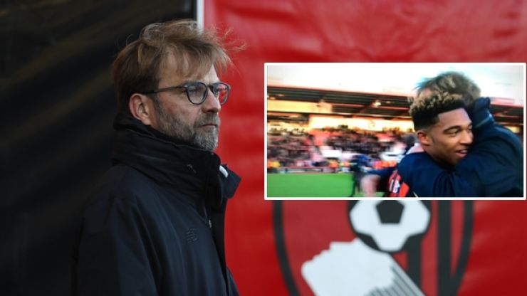 WATCH: Jurgen Klopp shows pure class congratulating Jordan Ibe after shock Liverpool loss