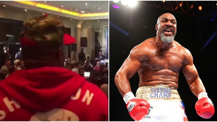 WATCH: Shannon Briggs gatecrashes Anthony Joshua's press conference because Shannon Briggs
