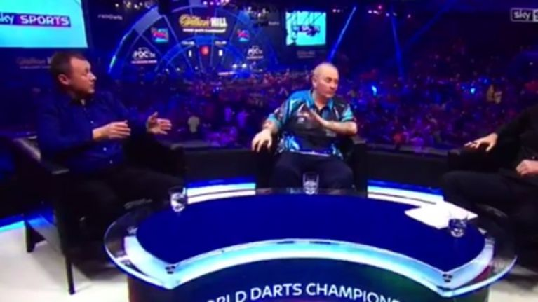 Phil Taylor doesn't like question on Sky Sports, swears on live TV and makes more enemies