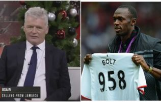 Usain Bolt called up MUTV live on-air, and the pundits were baffled