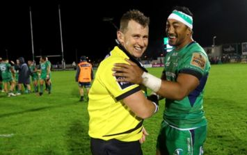 PIC: Nigel Owens is classy as ever with brilliant gesture to Irish fan