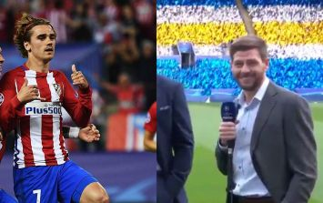 But seriously, how did you expect Steven Gerrard to react to those Antoine Griezmann to Manchester United rumours?