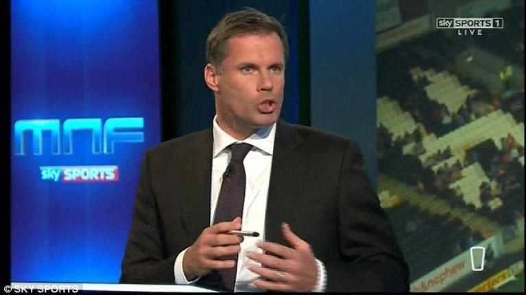 Jamie Carragher discovers he's been blocked as he tries to wish former teammate good luck in retirement