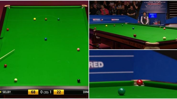 There's been another contender for the best shot of the World Snooker Championship