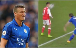 Robert Huth takes the piss out of Alexis Sanchez by showing off his injury from Arsenal 'battle'