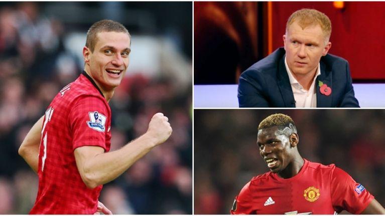 Nemanja Vidic reveals how Paul Scholes treated Paul Pogba in training