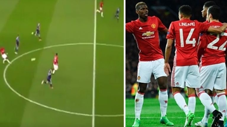 Paul Pogba's superb pass for Manchester United's opener is a joy to behold