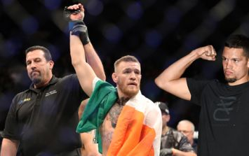 Nate Diaz wasn't supposed to be at Conor McGregor's history-making victory, but he found a way