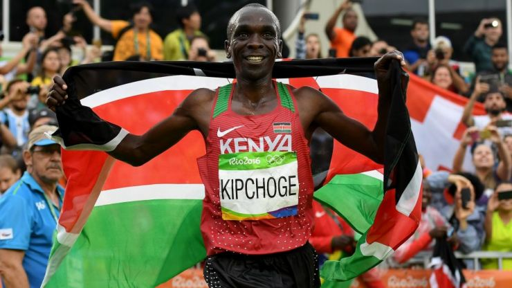 Olympic champion runs fastest marathon of all time but it will not count as world record