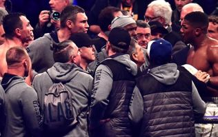 Here's what led to the in-ring altercation between Vitali Klitschko and Anthony Joshua