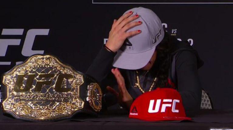 UFC star Joanna Jedrzejczyk leaves press conference in tears following Ariel Helwani question