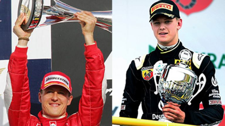 Michael Schumacher's son is following in his footsteps