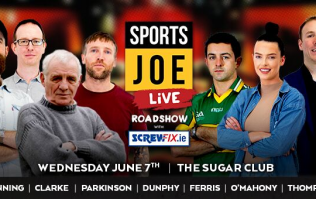 Get tickets for the upcoming SportsJOE Live Roadshow in the Sugar Club on Wednesday, 7 June