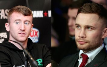 Carl Frampton cruelly highlights Paddy Barnes' questionable fashion in photo with Premier League goalkeeper