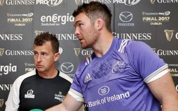 WATCH: Peter O'Mahony ready to chew through concrete in one intimidating tunnel moment