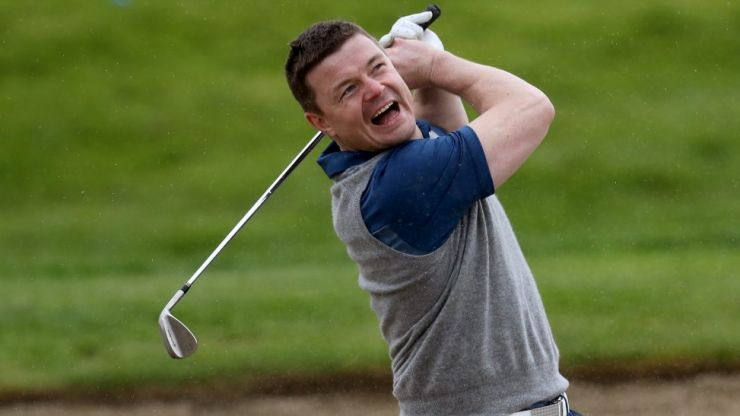 Brian O'Driscoll is a handy golfer but one retired tennis star is on another level