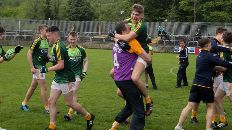 WATCH: Joe Brolly joins wild Antrim celebrations after his son kicks two extra-time points